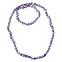 Amethyst Endless Beaded Necklace Jewelry Gift for Women Size