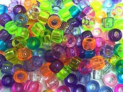 Assorted Color Design 180 Pieces Plastic Beads 6 x 7 mm For