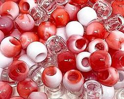 Assorted Color Design 200 Pieces Plastic Beads 10x12 mm For