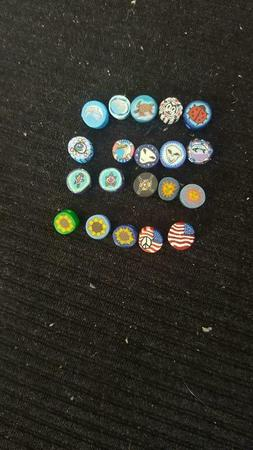 Assorted Small Fimo beads Lot of 25, YOU CHOOSE DESIGNS