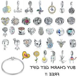 Authentic 925 Sterling Silver Charms Pendant Bead Fit Europe