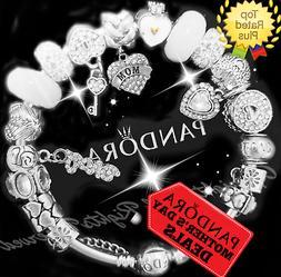 Authentic Pandora Bracelet Silver MOTHER DAY Love Wife Mom w