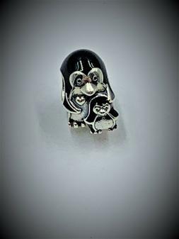Authentic Pandora S925 ALE Penguin Family Bead 791404EN60