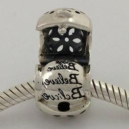 Authentic Chamilia Sterling Silver Believe Treasure Bead Cha