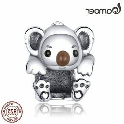 bamoer Baby Koala Metal Beads for Women Jewelry Making 925 S