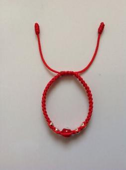 baby red string evil eye bracelet good luck and protection.w