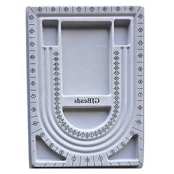 Beadsmith Bead Design Beading Board, 9 by 13-Inch, Grey Floc