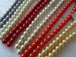 "Bead, Glass Pearl, 8mm round, 12"" strand"