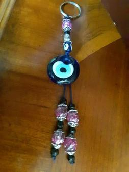 Beaded Eye Keychain NEW
