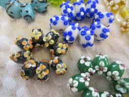 beading supplies, new, preowned, lamp work beads