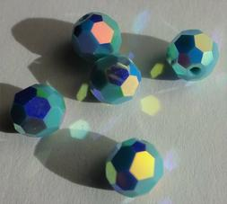 Swarovski crystal beads 4mm 5000 TURQUOISE AB2X - bulk pack