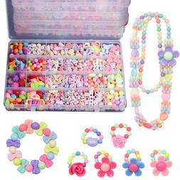 Beads 650+PCS Jewelry Making Kit Toys Set for Kids DIY Art C