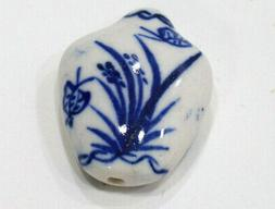 Beads Chinese Blue White Porcelain Vase Beads 28mm