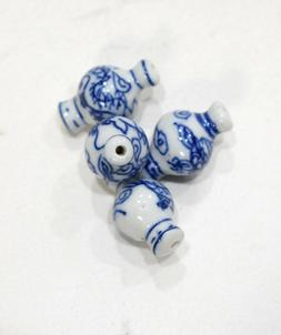 Beads Chinese Blue White Porcelain Vase Beads 26mm