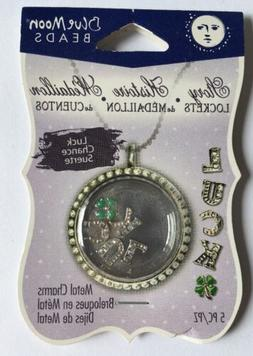 Blue Moon Beads Luck Story Lockets Metal Charms for Jewelry