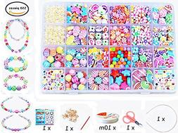 Wtong Beads Set for Jewelry Making Kids Adults for DIY Neckl