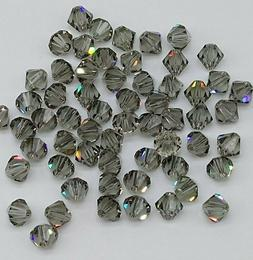 Swarovski Crystal Black Diamond Bicone 5328 Beads; 4mm  or 6