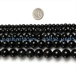 Black Obsidian Natural Stone Round Beads For Jewelry Making