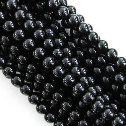"Black Onyx Round Beads Gemstone 15"" Strand 2mm 3mm 4mm 6mm 8"