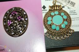Blue Moon Bead NWT gold & aqua pendant,& Nouveau colour pend