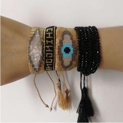 BOHO MIYUKI Beads Bracelet MIYUKI Joyeria Turkish Evil Eye B