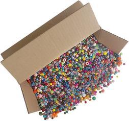 The Beadery Bonanza 5LB of Mixed Craft Beads, Sizes, Multico