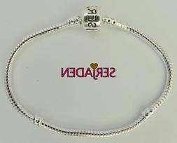 Serjaden Bracelet Silver Plated 3 mm Thick Fits European Sty
