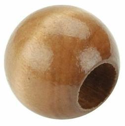Bulk Buy:Pepperell Round Wood Macrame Craft Beads, 20mm, Map