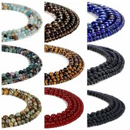 6mm 8mm10mm Natural Stone Gemstone Round  Loose Energy Beads