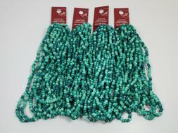 "Bulk Lot / 4  Bead Landing Glass Seed Bead 112"" strand / han"