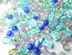 Bulk Lot Beads for Bracelet Making Mix Color Painted Glass A