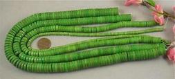 #bulk sale/4 strands  apple green Howlite disc beads