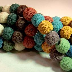Bulk Wholesale 12mm Colored Lava Beads Diffuser Scent Aromat