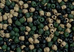 Camo mix Skull shaped Pony Beads Halloween Goth paracord jew