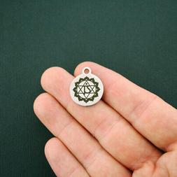 Chakra Stainless Steel Charms - Anahata Heart Chakra - Quant