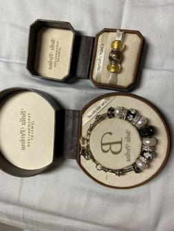 Bella Perlina Charm Bracelet Black N White W Color Changing