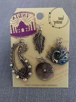 Bead Landing Charms India  & Amulet      Sold together as a