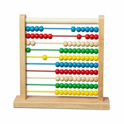 Classic Abacus 100 Wooden Beads Counting Frame Colorful Deve