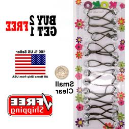 Clear Braid Girls Kids Scrunchie Small Beads Hair Tie Ball P