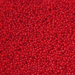 *** CLEARANCE *** Czech Seed Beads 10/0 Opaque Red 1/2 ounce