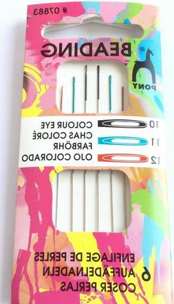 Color Eye Pony Beading Size 10-12 Beading Needles Quality-Be