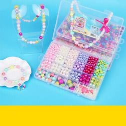 Colorful Assy Craft Make Own Beads Jewellery Box Set DIY For