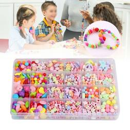 Colorful Kit Craft Make Own Beads Jewellery Box Set DIY For