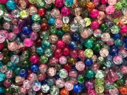 CRACKE GLASS BEADS SPACERS JEWELRY MAKING FINDINGS CHARMS