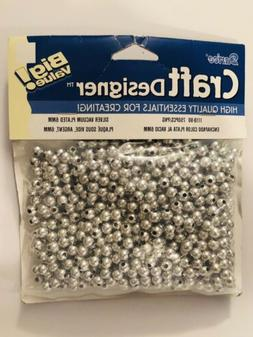 Darice Craft Designer Silver Vacuum Plated 6MM Round Beads 7