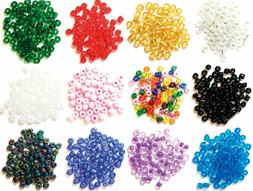 Craft Factory Glass E Beads 4mm Sewing Knitting Beading Loom