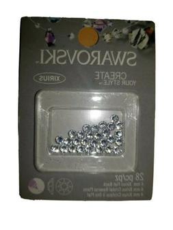 Swarovski Create Your Style Beads 4mm Xirius Flat Back 28pc