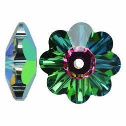 Swarovski Crystal, 3700 Flower Margarita Beads 12mm,4 Pcs,Cr