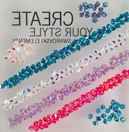 crystal 4mm bicone beads ab 2x colors