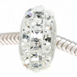 Swarovski Crystal, 81201 BeCharmed Pave Squares Slim Large H